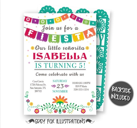 Fiesta invitation fiesta birthday invitation mexican fiesta filmwisefo