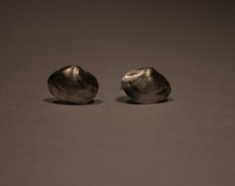 Fine Silver Shell Stud Earings