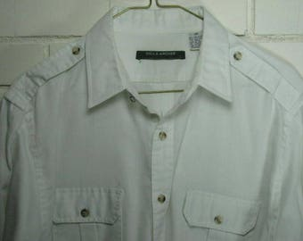1970's - 80's white shirt with epulattes