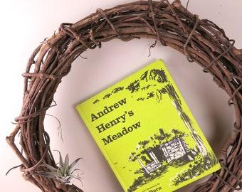 Vintage Children's Book Andrew Henry's Meadow Written & Illustrated by Doris Burn, Coward-McCann Inc. New York