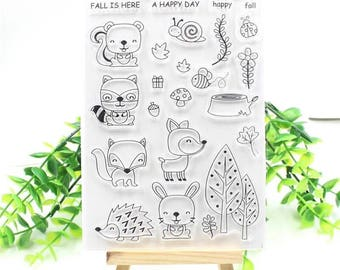 Forest Animals Clear Stamp Set