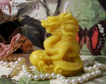 Free USA Shipping Beeswax Foo Dog Lion Dragon Candle