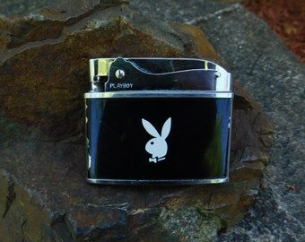 Vintage Made in Japan Playboy Pocket Lighter - 1960's - from DustyMillerAntiques