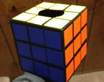 Handmade Completed Rubix Cube Tissue Box - Not Made Of Yarn