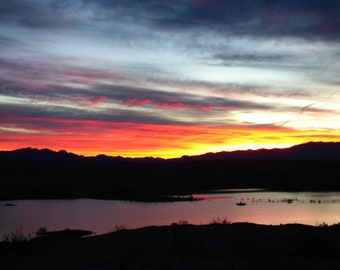 Incredible Sunrise Over Lake Mead
