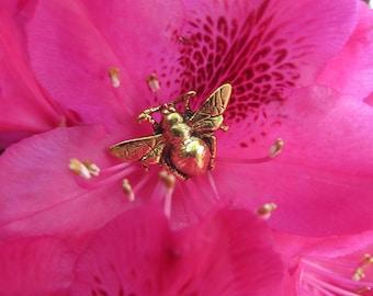 Gold Bumblebee Lapel Pin-CC279G- Bumblebee, Bees, Honey, Pollination, Bee Keeper Pins