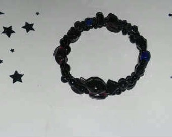 Adjustable Black, Blue and Purple Multicolor Gothic Bracelet