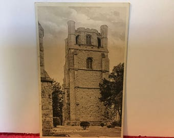 Chichester cathedral bell tower postcard circa 1910 England