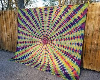 Trippy Tie Dye Kaleidoscope  Tapestry