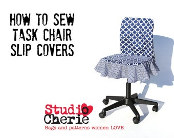 Back to School Dorm Decor DIY Chair Slipcover How To Sewing Pattern and Instructions