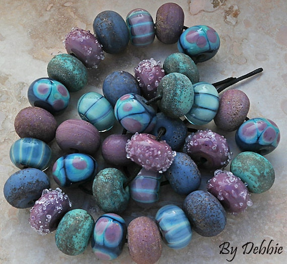 Lampwork Beads Rustic Lampwork Handmade Beads Organic Lampwork Glass Beads Supplies Statement Necklace Bead Bracelet Debbie Sanders