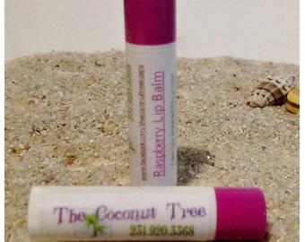 Raspberry Lip Balm /All Natural Lip Balm / Coconut Oil / Shea Butter / Cocoa Butter / SPF Lip Balm / No Animal by products