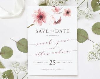 WATERCOLOR SAKURA | Customized Wedding Save the Date
