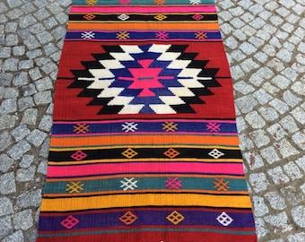 Vintage Turkish Oushak Rug, Oushak Rug 2x4, Turkish Rug Carpet, Carpet Rugs, Turkish Handmade Rugs, Carpet, Area Rugs, Vintage Kilim