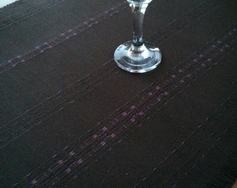TABLE RUNNER, Handwoven, Country Kitchen, Unique, Brown, Modern,