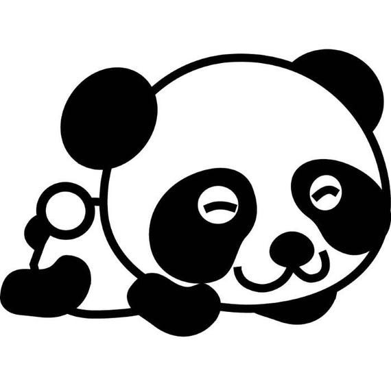panda bear 1 baby newborn cute smile animal zoo logo svg