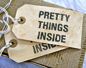 Rustic Hang Tags, Packaging, Pretty Things Inside