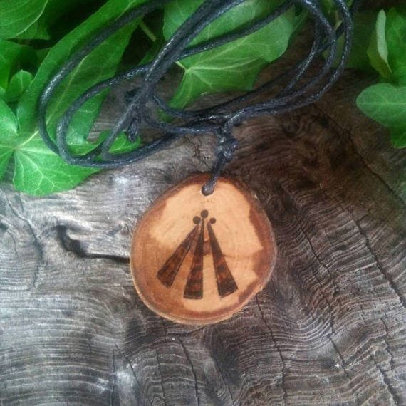 Apple Awen Pendant Necklace, Awen Pendant, Apple Pendant, Apple, Awen, Druid, Apple Necklace, Druid Jewelry, Amulet Pendant