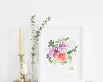 Bouquet #1 - With or Without Frame