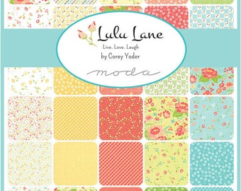 Lulu Lane charm pack 5 inch squares for Moda Fabric by Corey Yoder