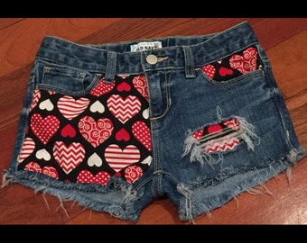 Hearts ripped shorts