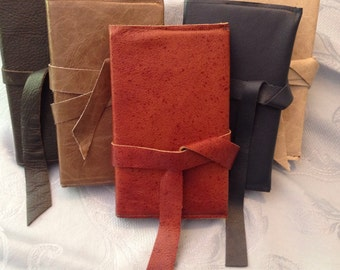 Desert Sand hand-crafted leather covered journal