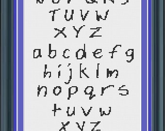 Cross Stitch Alphabet Pattern Chick Font