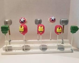 super hero cake pops (Order of 13)