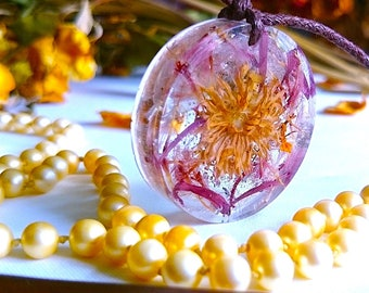 """Handmade Necklaces - OOAK Flower Pendants - Inspired by """" A Moment to Ponder """""""