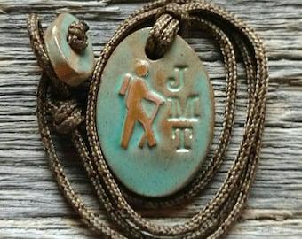 John Muir Trail (JMT) Hiker Symbol Necklace