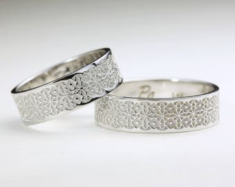 His and Hers Wedding Bands, Matching Wedding Bands, Matching Wedding Band Sets, Wedding Ring Set, His and Her Ring Set, Wedding Band Set