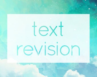 Text Revision - Custom Info / Detail Changes to Purchased Graphics