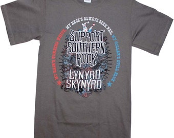 Lynyrd Skynyrd Red, White And Blue Support Southern Rock T-Shirt