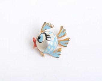 Fish brooch, fish pin, vintage brooch, brooch, fish jewelry, fish, vintage jewelry, vintage fish brooch, kawaii, animal brooch, gift for her