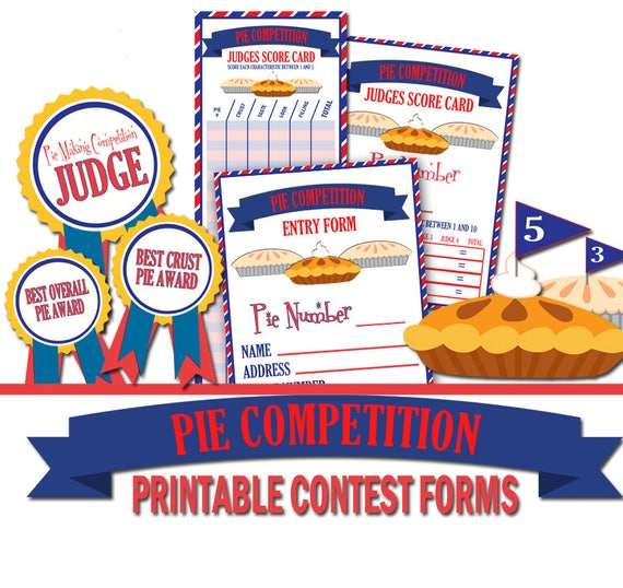 Pie Making Competition Printables Forms Pie Contest Forms