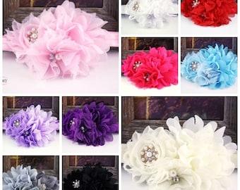 Baby Headband, baby girl headband, easter headband, baby flower headband,  flower headband baby, flower headbands for girls