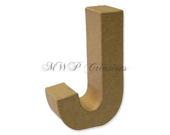 """Letter 3D """"J"""" to """"R"""" (cardboard/paper mache) to customize"""