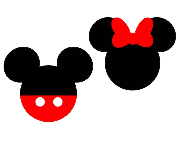 Mickey Mouse Svg Disney Svg Minnie Mouse Svg Bow Svg Monogram