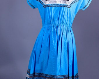 1950s Electric Blue Rick Ran Dress