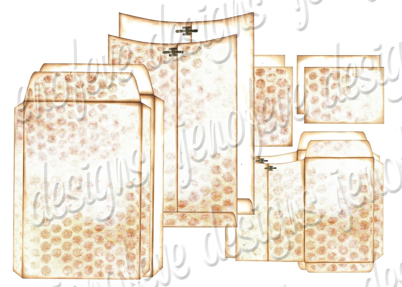 6x9 printable envelope album distressed bubble wrap plain templates. Black Bedroom Furniture Sets. Home Design Ideas