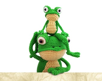 Patternbundle Frog Crochet Patterns: Fritz and Foggy