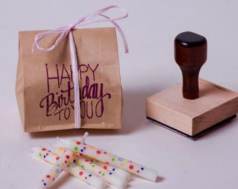 Birthday Favors.  Fresh Roasted Coffee Party Favors in Kraft paper packaging.  Lot of 20 x 2 Oz. Portions.  Made to Order.