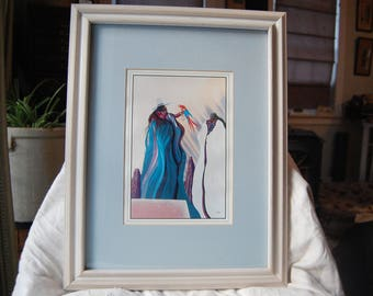 Bill Rabbit Framed Matted Print - Southwestern Art -