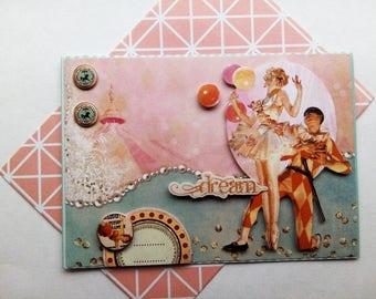 """Card """"circus Harlequin Dream passion"""""""
