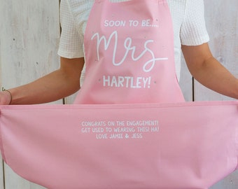 Custom Bride to be Cooking Apron - Engagement gift - gift for brides to be - Gift for bride - Squiffy Print - Sparkly unusual custom apron