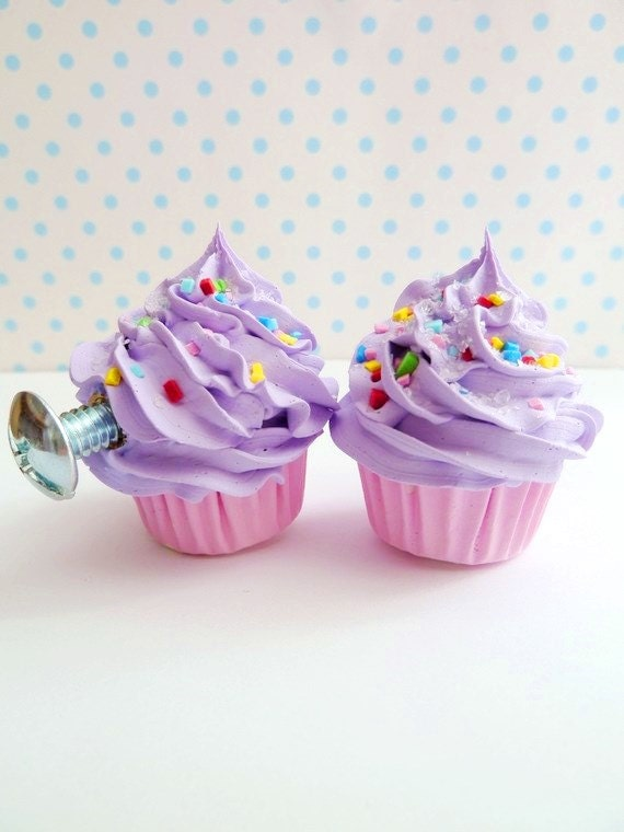 Alice in wonderland door knobs childrens pull knobs cupcake