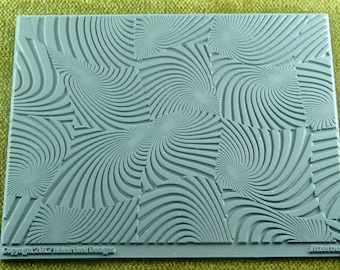 Zentangle Jitterbug  Helen Breil Texture Embossing Intricate Rubber Stamp