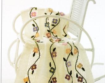Floral Trellis Flowers Afghan Crochet Pattern Roses Afghan Blanket Crochet Pattern PDF Instant Download