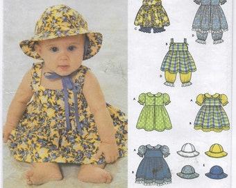 A Dress, Pinafore/Sundress, Panties, Pantaloons and Hat Sewing Pattern for Babies: Uncut - Sizes XS-S-M-L (1 Mo. - 18 Mo.) ~ Simplicity 9784