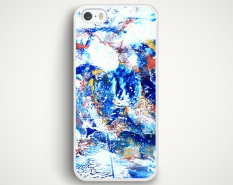 Blue Paint Texture Case for iPhone 8 iPhone 7 iPhone 6s iPhone SE iPhone 5s iPhone 5c Samsung Galaxy S7 Galaxy S6 Galaxy S4 Xperia HTC M8